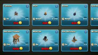 Clash of clans   Gemming From TH1 To MAX TH10 11 Million Gems Private Server 2015