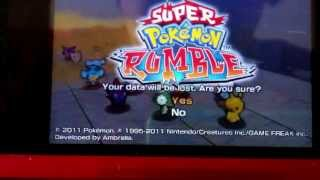 How to delete your Super Pokemon Rumble save file
