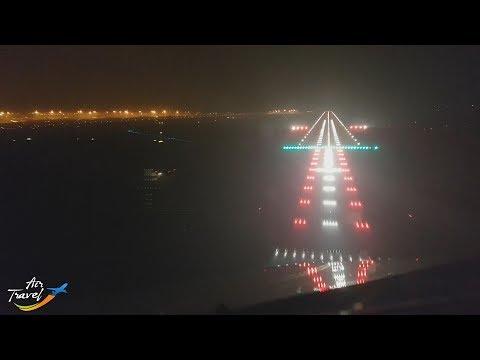 Night landing & taxi at Milan (MXP) - cockpit ✈