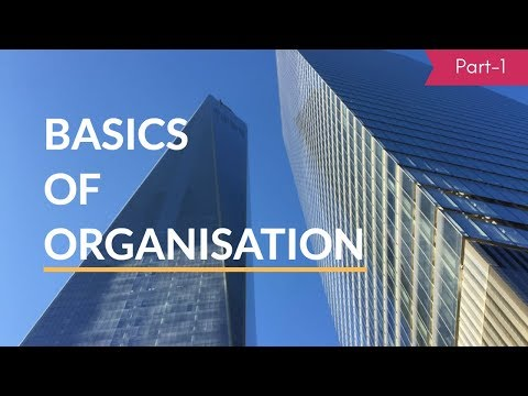 Basics of Organisation: Part-1  Meaning, Features & Process of Org. (Hindi)- B.COM, M.COM, NET, SET