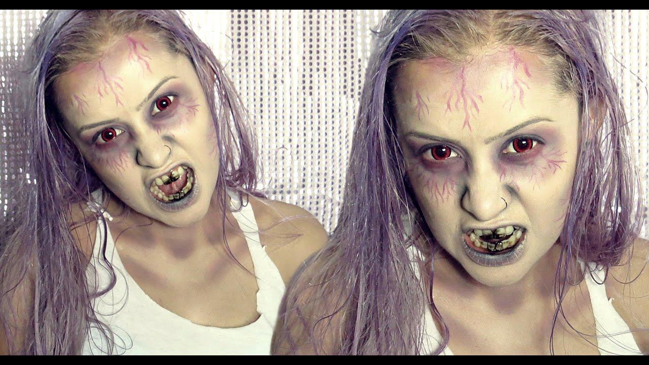 Halloween Zombie Girl Makeup - Tutorial de Maquiagem ...