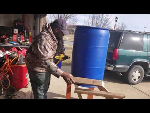 Building a 55 gallon Barrel Strawberry Planter for 50 Plants