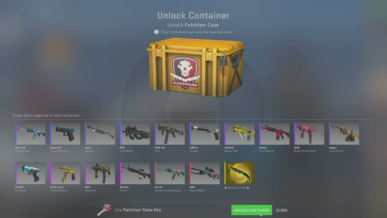 Opening a CS:GO case til a gold appears... DAY 259