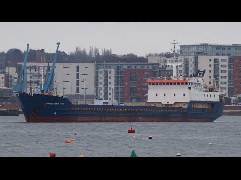 SORMOVSKIY 3067 - Russian coastal ship departing ABP port of ipswich 6/3/19