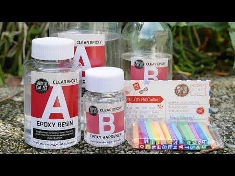 AB epoxy clear resin bottle measurement