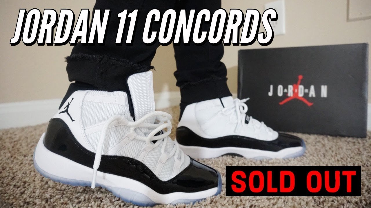 ed32ad2c32ff79 AIR JORDAN 11 CONCORD REVIEW   ON FEET !!! SOLD OUT INSTANTLY OVER 1  MILLION PAIRS.