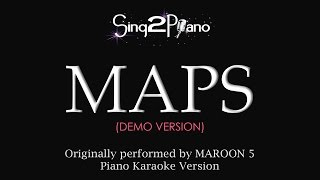 MAPS (Piano Karaoke Demo) Maroon 5