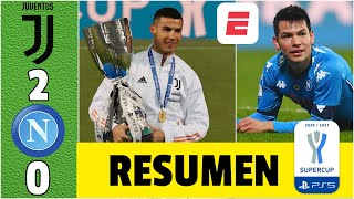 Juventus 2-0 Napoli. Gol de CRISTIANO RONALDO. Juve campeón. Chucky casi marca | Supercopa de Italia