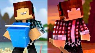 Minecraft : REVERSOS NA PRAIA !!- ( Mundo Reverso #03)