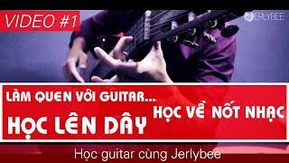 Video #1 | Làm quen Guitar | Học nốt nhạc | Lên dây đàn | HỌC GUITAR CÙNG JERLYBEE