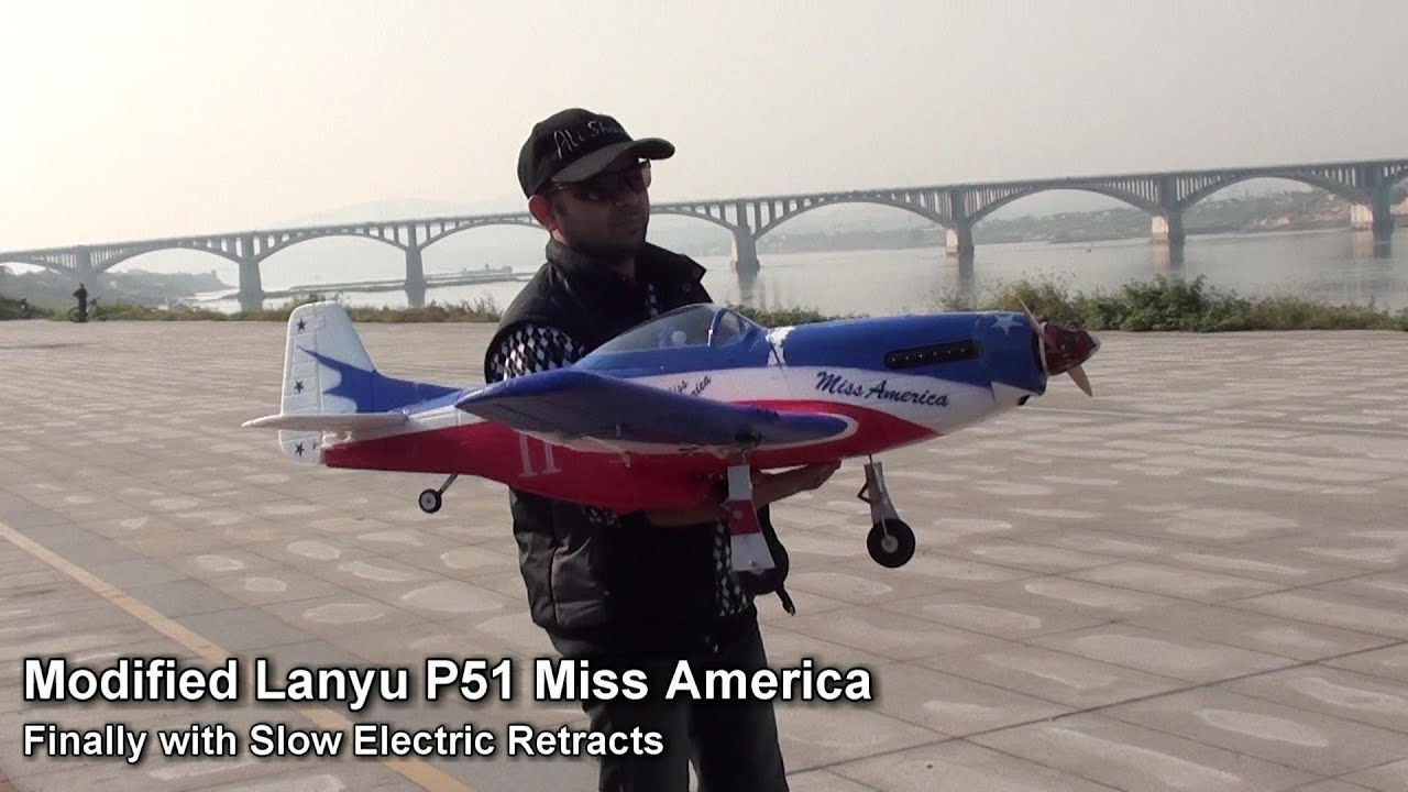 Modified Lanyu P51 finally with Slow Electric Retracts