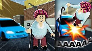 Roblox granny car hit game... ??