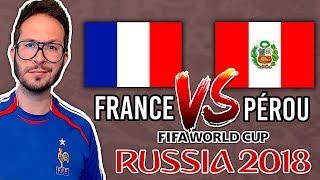 FRANCE vs PÉROU : TOUS LES BUTS DU MATCH VIRTUEL ⚽️ COUPE DU MONDE 2018 - FIFA 18