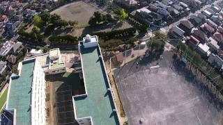 横浜市立日限山小学校phantomによる航空撮影