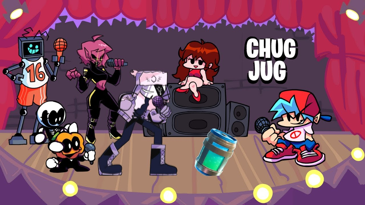 """Friday Night Funkin' but Different Characters Sings """"Chug Jug With You"""""""