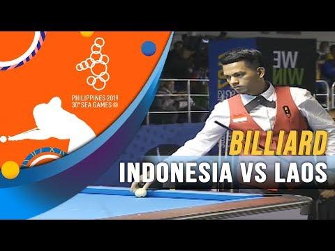 Billiard Indonesia Vs Laos - SEA Games 2019
