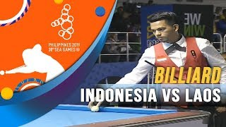 Billiard Indonesia vs Laos - SEA Games 2019