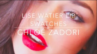 Lise Watier Rouge Gourmad Velours Lipstick Lip Swatches   Chloé Zadori