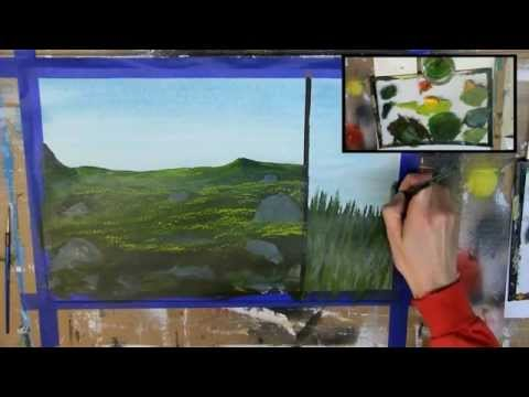 How to Paint Grass: 6 Different Ways (Acrylic Painting Tutor