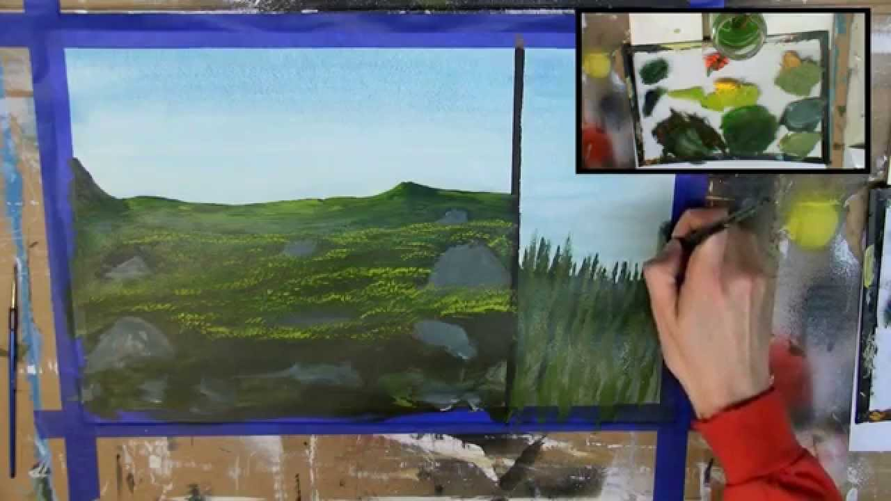How To Paint Grass 6 Different Ways Acrylic Painting