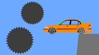 Crazy Car Crashes  Phun Algodoo Moments #6