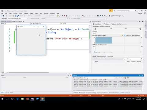Visual Basic - Input Box, Message Box And Debug Write Line