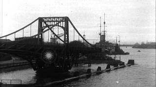 Kaiser Wilhelmshaven Bridge In Wilhelmshaven. Hd Stock Footage