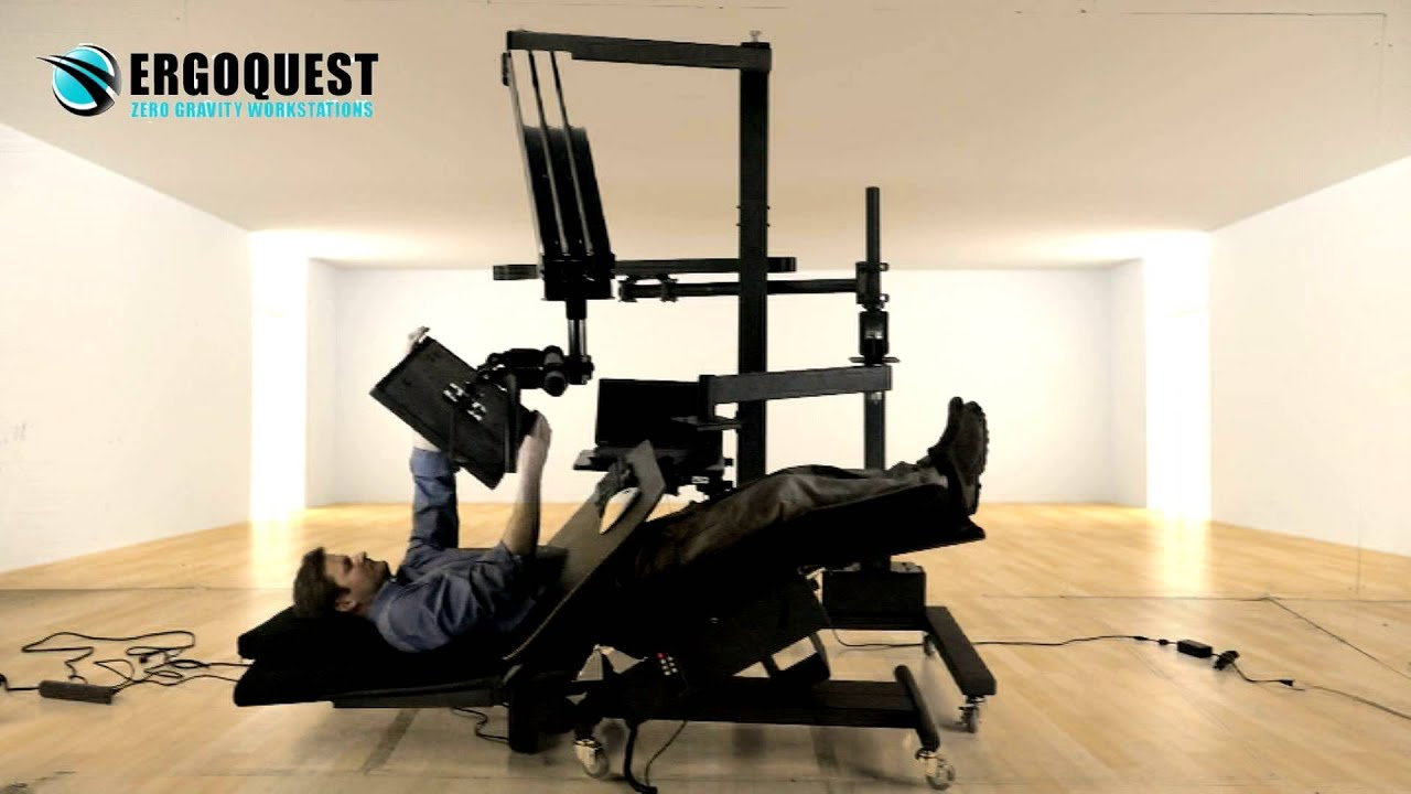 Reclining Workstation 2a By Ergoquest Youtube