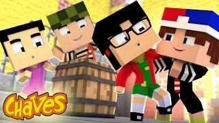Minecraft ESCONDE-ESCONDE - O QUICO BEIJOU A CHIQUINHA!! (VILA DO CHAVES)