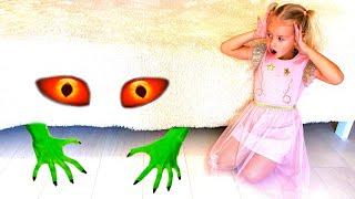 شفا - قصة وحش تحت السرير !!! Eva - Monster under the bed story   Ева и детская история