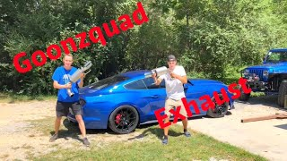 Goonzquad Gave Me Their exhaust!! Rebuilding A Wrecked 2017 Mustang GT Part 2