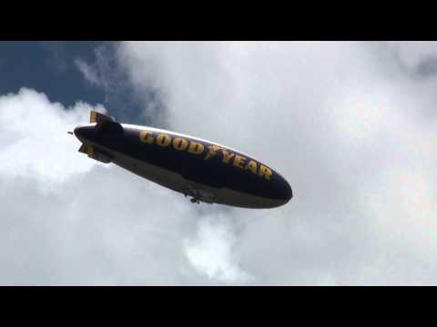 Goodyear Blimp Flying Over My House in HD