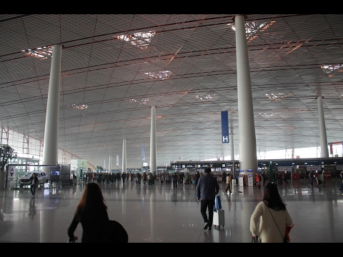 Arriving at the Beijing Airport / 北京首都国际机场