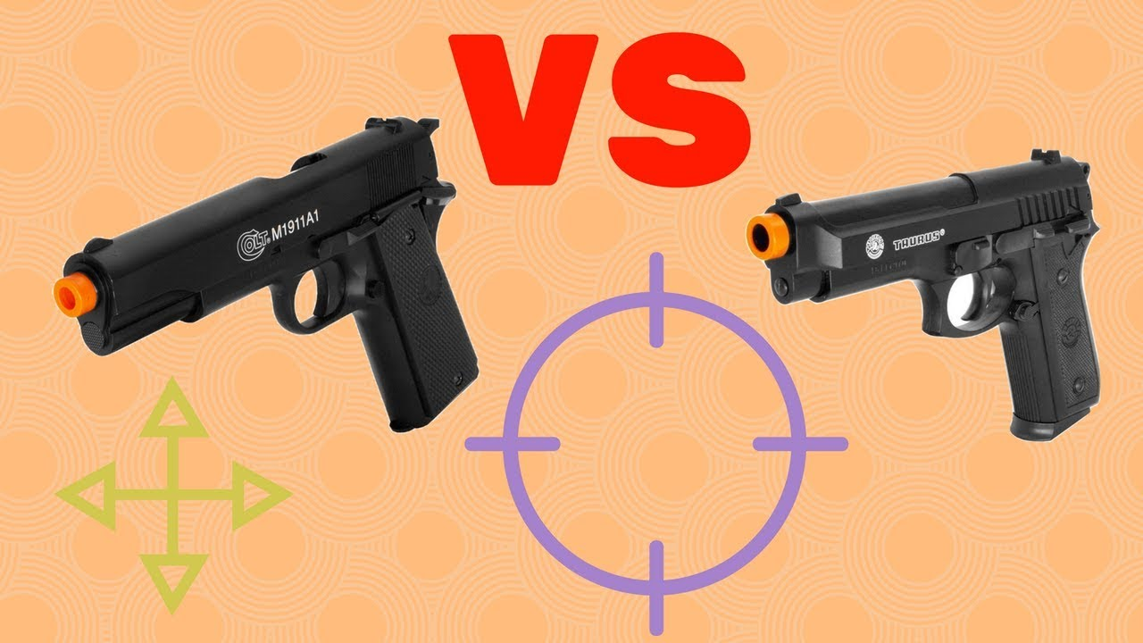 beef43f36 Differenza Colt 1911 A1 HPA VS Taurus PT 92 HPA - YouTube