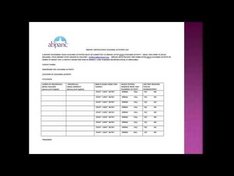 ABPANC Coaching Program Webinar for CPAN® CAPA® Certification - YouTube