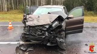Смотреть видео ДТП на трассе Москва - Архангельск онлайн