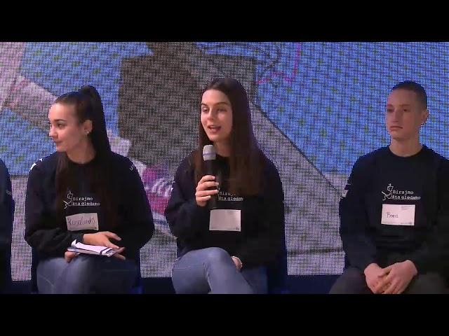 Mladi reporteri na predstavljanju pjesme i spota