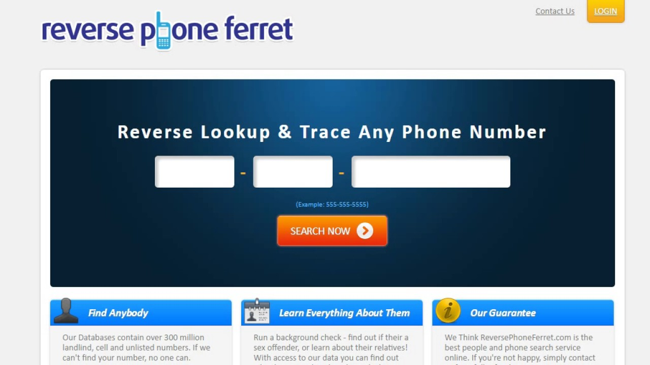 Reverse Phone Lookup! Reverse Lookup & Trace Any Phone Number - YouTube