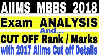AIIMS MBBS 2018 CUT OFF, Aiims 2018 exam Analysis, Expected Aiims 2018 cutoff