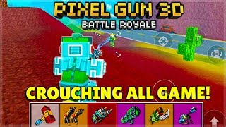 YOU MUST CROUCH ALL GAME AND WIN! BATTLE ROYALE CHALLENGE | Pixel Gun 3D