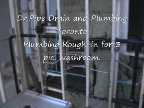 Plumbing Rough In Dr Pipe Drain And Plumbing Company Toronto Youtube