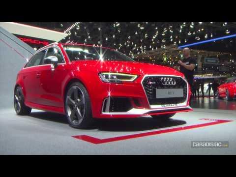 Audi RS3 restylée: 400 ch! - En direct du salon de Genève 2017