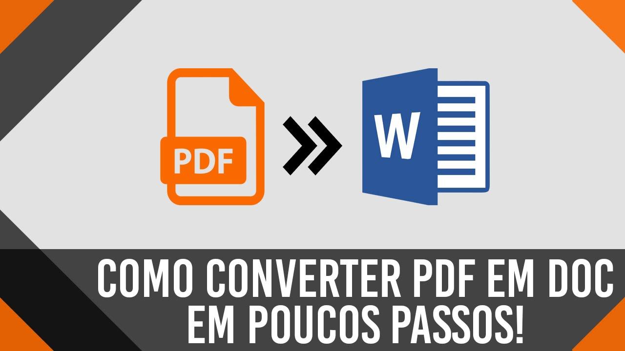 Conversor Pdf Para Doc Gratis