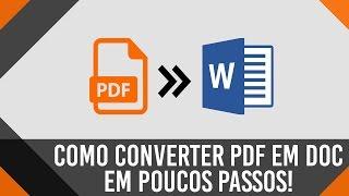 como converter pdf em word doc gratuitamente   100 funcional