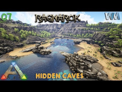 Ark Ragnarok EP07 - Hidden Metal Cave - Base Locations Part 2! (GamePlay) [Iron Mine]