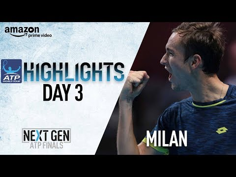 Highlights: Rublev, Medvedev, Coric, Chung Into Milan SF 2017