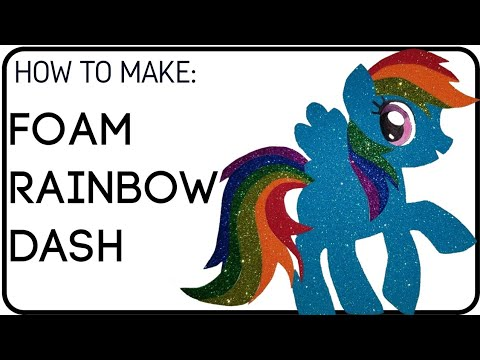 DIY Foam Rainbow Dash for Party Centerpieces