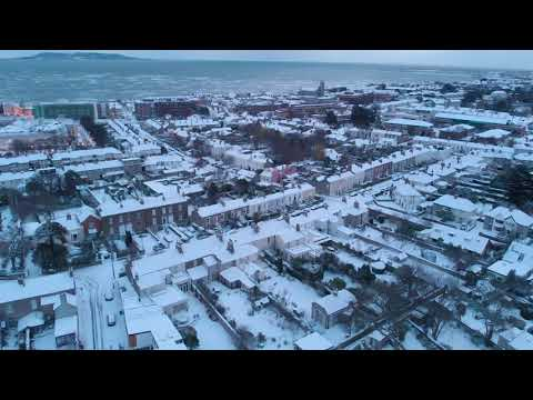 Dublin Snow 2018 by Drone - 4K