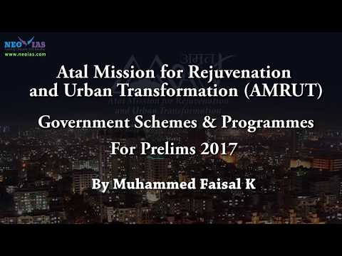 AMRUT | Prelims 2017 Current Affairs | Government Schemes | NEO IAS