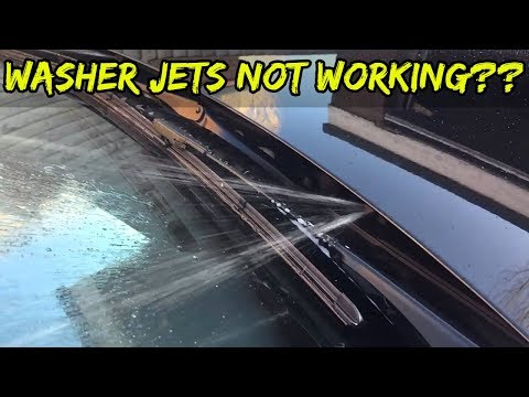 Windscreen Washer Jets On A BMW Not Working – How To Fix – DIY